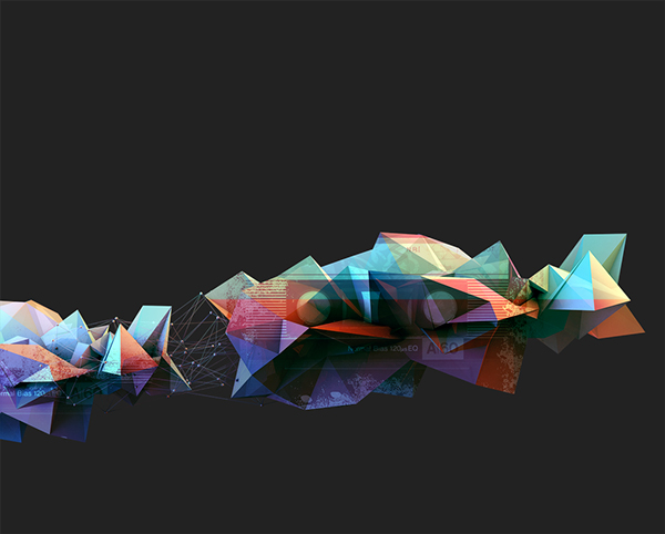 Low Poly and Tape Blend